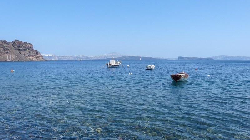 Thirasia dock - Boat tour in Santorini