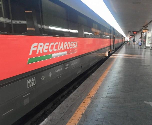 Italy by train: Frecciarossa train