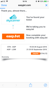 Skyscanner - ready to purchase