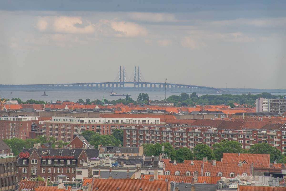 Oresund from The Round Tower - Copenhagen, Denmark