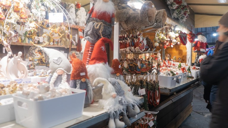 Gifts at Florence Santa Croce Christmas Market, Dec 2018