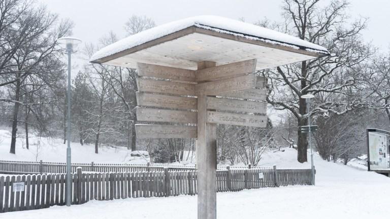 Hellasgården - signpost