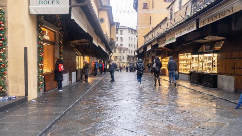 Ponte Vecchio Bridge shops - Florence Italy
