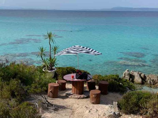 Table with a view -Portokali beach