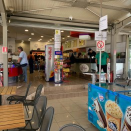 KTEL Halkidiki Bus station shop