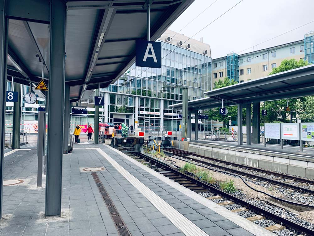 Salzburg platform at Munich station