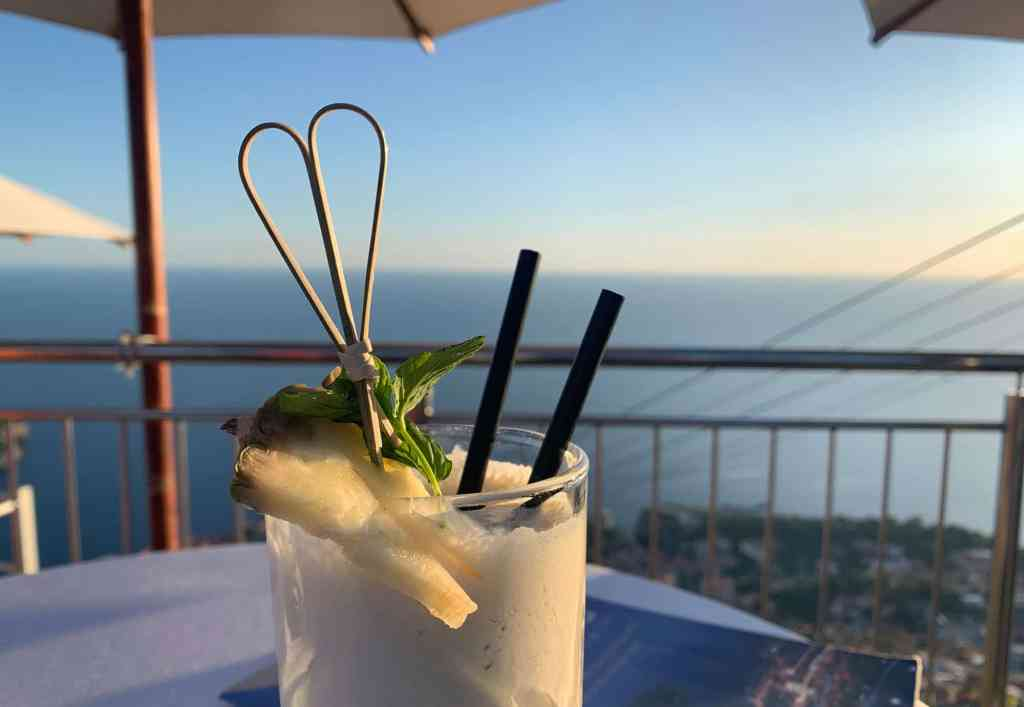 Cocktails at Panorama - solo travel