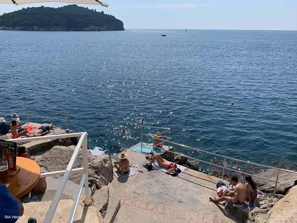 Buža Bar sunbathing