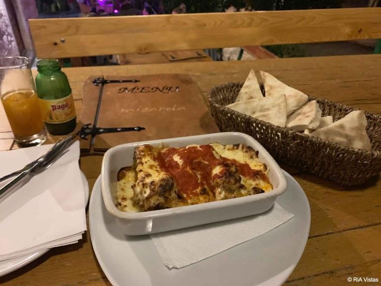 Yummy Mizarola meal
