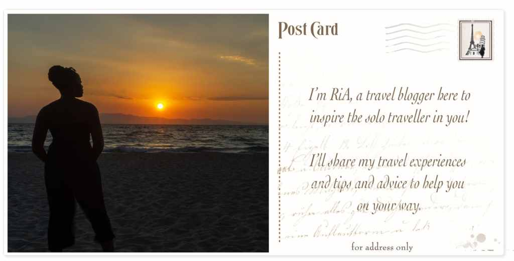 RiA - About Me postcard