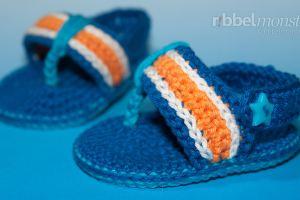 Baby Flip Flops häkeln - Anleitung