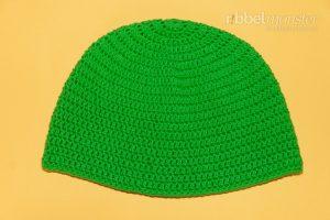 Mütze häkeln - Beanie mit ganzen Stäbchen - Häkelanleitung
