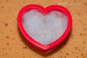 Nadelfilzen - Herz mit Ausstechform - Anleitung