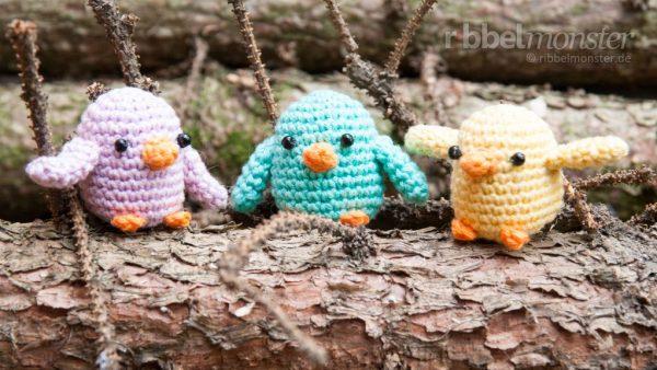 Amigurumi Pattern - Crochet Little Birds - free Crochet Pattern