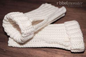 Anleitung einfache Handstulpen häkeln ohne Zunahmen und Abnahmen Häkelanleitung