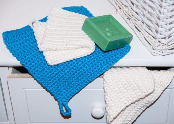 Anleitung einfache Waschlappen häkeln Häkelanleitung