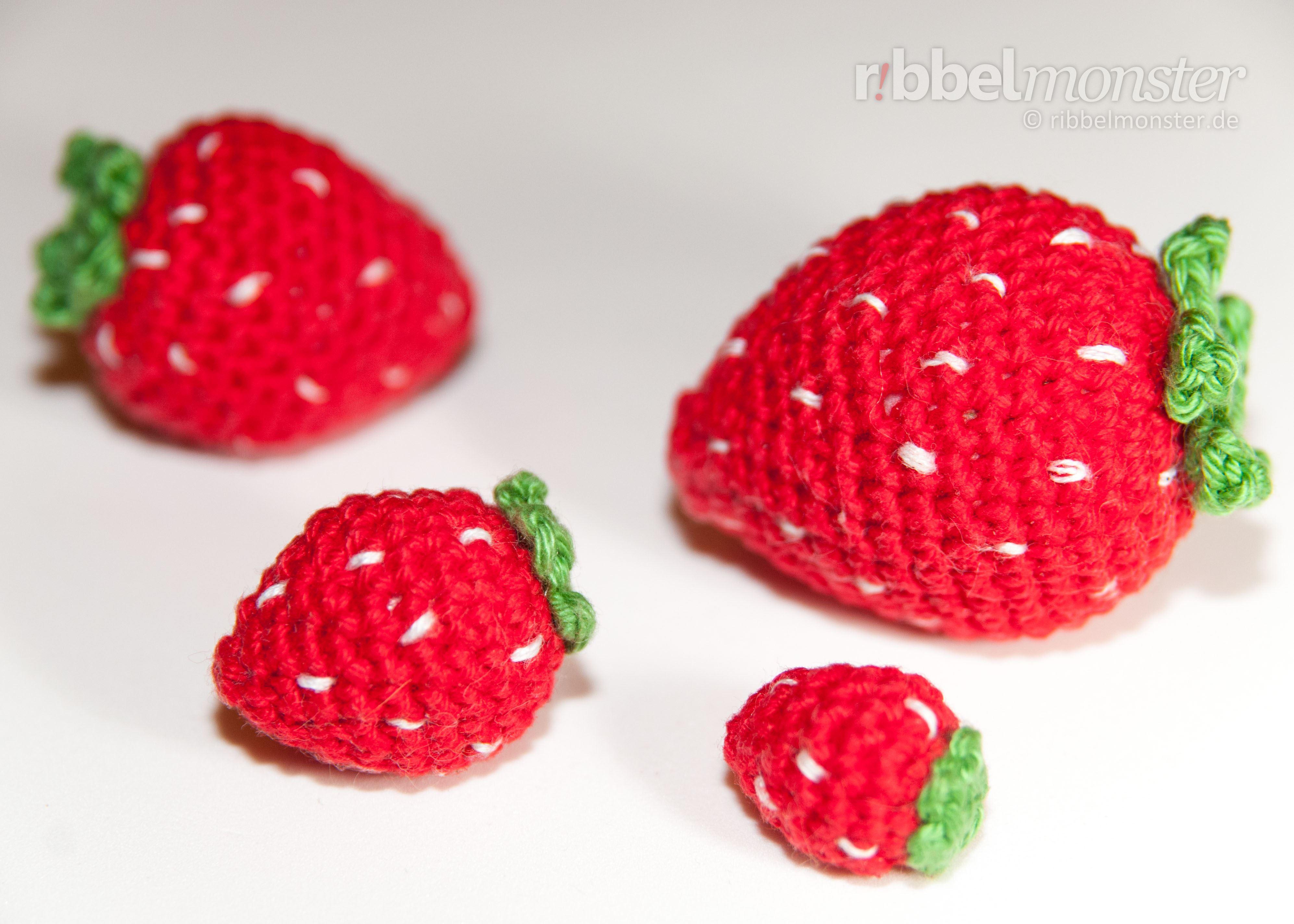 Amigurumi Kleine Erdbeere Häkeln Premium Kostenlose Anleitungen