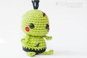 Amigurumi - Minimee Zombie häkeln - Ouk - Häkelanleitung - kostenlose Anleitung