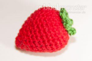 Amigurumi mittlere Erdbeere häkeln Anleitung