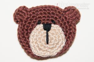 Aufnäher - kleinen Teddybär häkeln - Bertram - Anleitung - Häkelanleitung