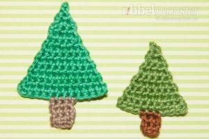 Aufnäher - einfachen Tannenbaum häkeln - Anleitung - Häkelanleitung