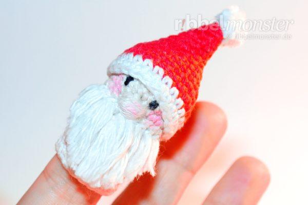 Amigurumi - Weihnachtsmann Fingerpuppe häkeln - Häkelanleitung - Anleitung