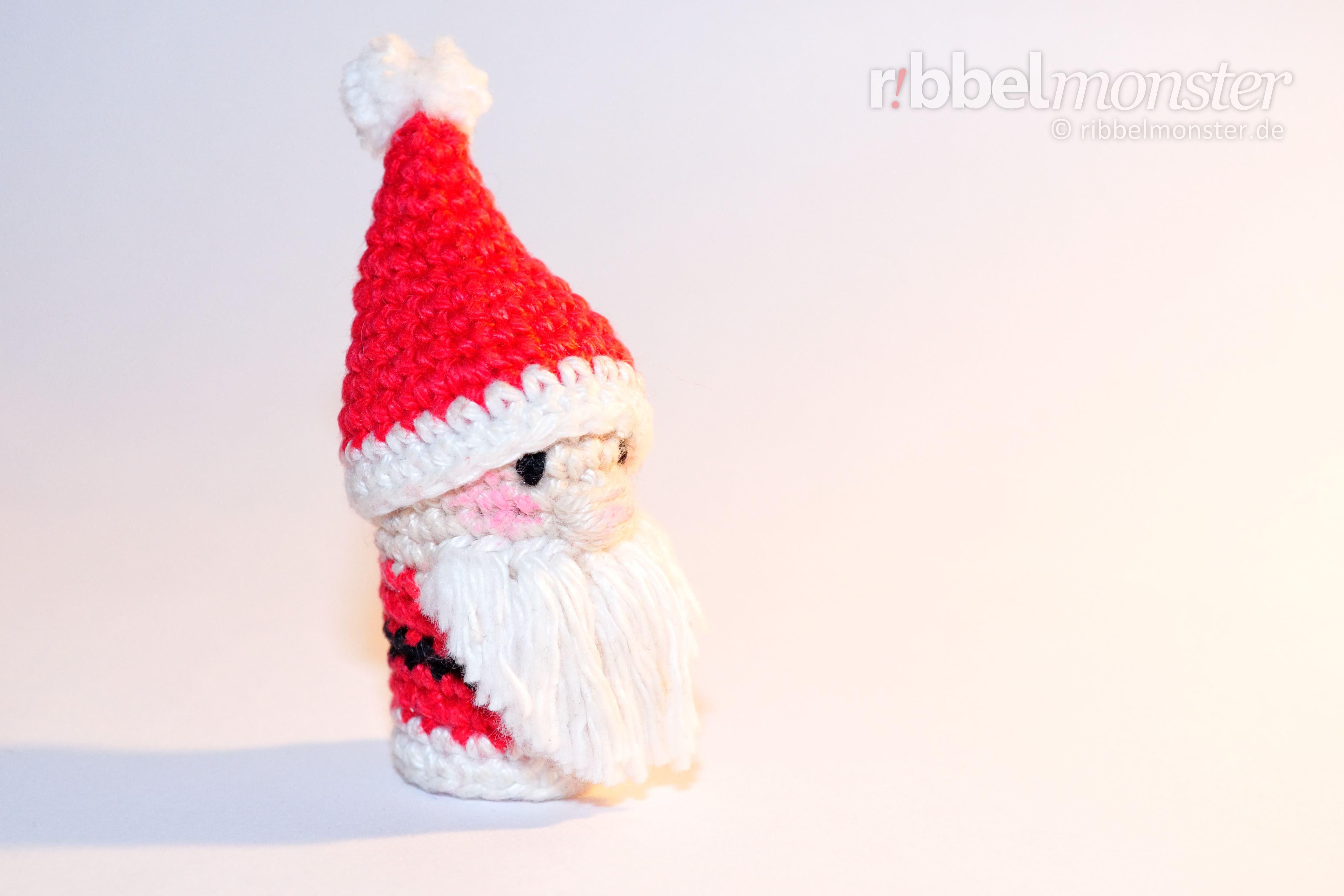 amigurumi weihnachtsmann fingerpuppe h keln. Black Bedroom Furniture Sets. Home Design Ideas