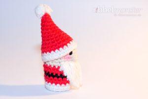 Amigurumi - Weihnachtsmann Fingerpuppe häkeln - kostenlose Häkelanleitung