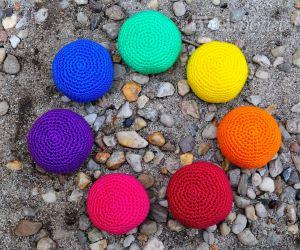 Einfaches Footbag häkeln - uni - Hackysack - Jonglierball - Stressball - kostenlose Häkelanleitung