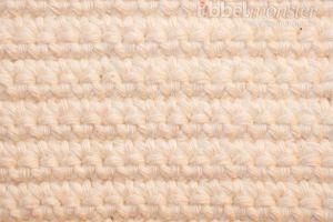 Muster häkeln - Rosenstich häkeln - feste Maschen in Reihen