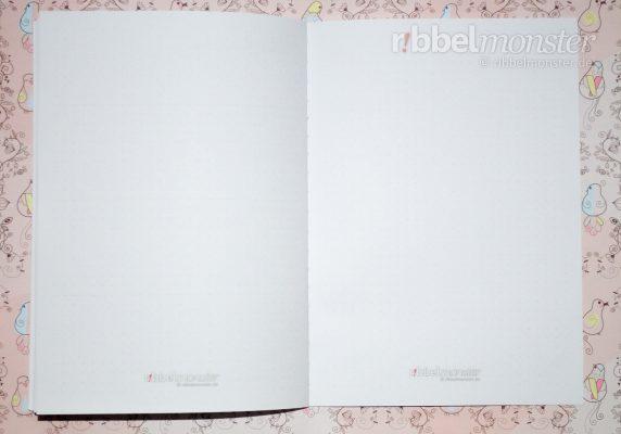 Druckvorlage - DIY Projektbuch basteln - dotted A5 - Notizen