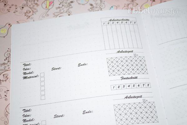 Druckvorlage - DIY Projektbuch basteln - dotted A5 - Projekte