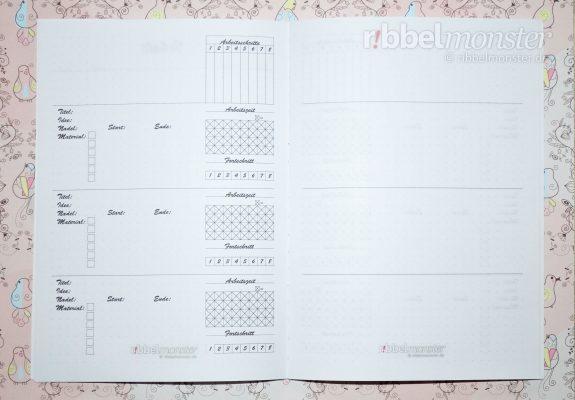 Druckvorlage - DIY Projektbuch basteln - dotted A5 - Projektseite