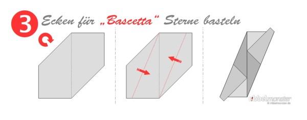 Ecken für Bascetta Sterne basteln - Grundanleitung - Faltanleitung - Schritt 3