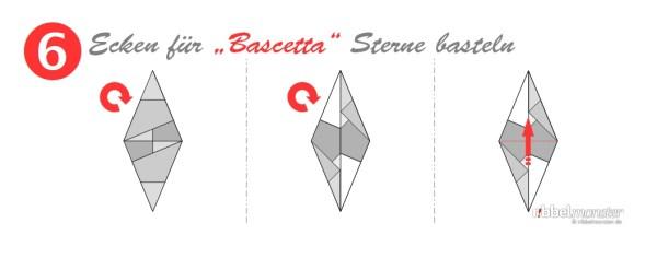 Ecken für Bascetta Sterne basteln - Grundanleitung - Faltanleitung - Schritt 6