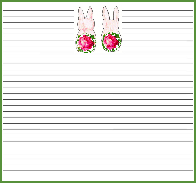 Spring bunny notecards