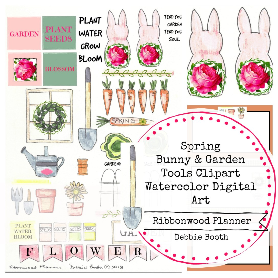 Spring Bunny pattern front
