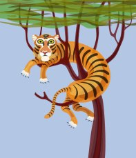 The tiger and the tree