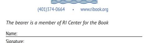 RICFB Membership Card