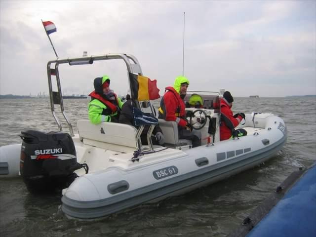 Our Suzuki powered RIB BSC61 on a Christmas trip with sportbotenforum.nl