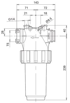 Dimensioni FILTRO LINEA 32620M3 ARAG