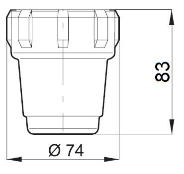 Dimensioni RICAMBIO COPERCHIO X FILTRO IN LINEA PICCOLO 322000.020 ARAG
