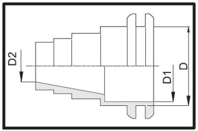 Disegno tecnico ATTACCO IN GOMMA 509106 ARAG