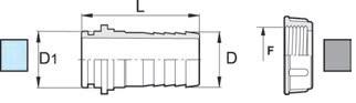 Disegno tecnico RACCORDO 106635 ARAG