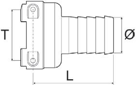 Disegno tecnico RACCORDO 1090540 ARAG