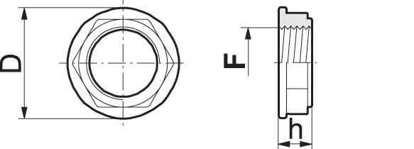 Disegno tecnico TAPPO 2102060 ARAG