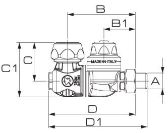 Disegno tecnico GETTO M66 66.627.13 15 BRAGLIA