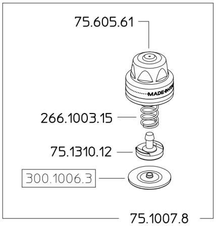 Kit modulo antigoccia 75.1007.8 BRAGLIA