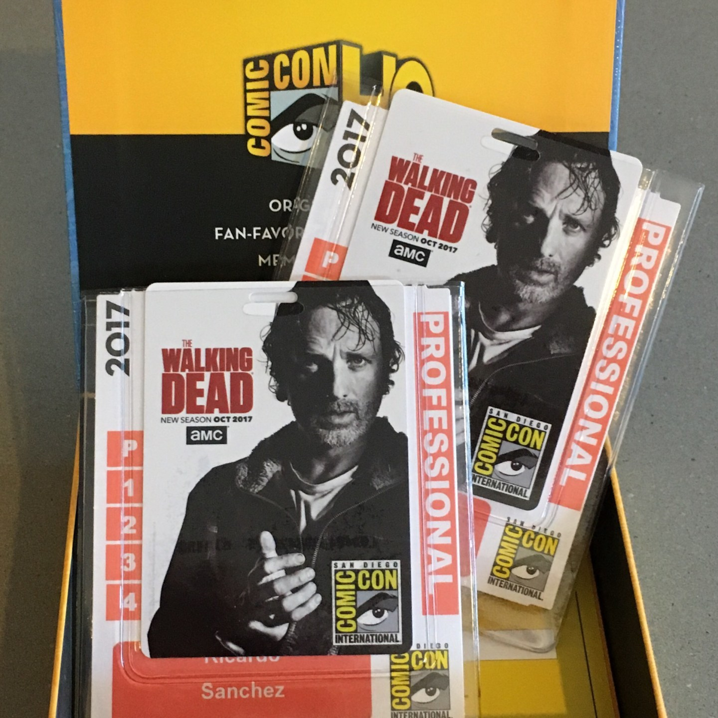 Comic-con Badge Box