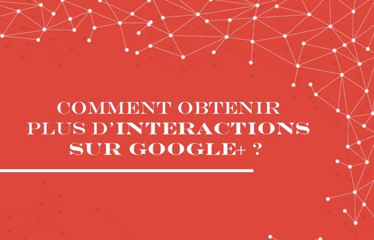 Il ne faut pas juste savoir ce qu'il faut dire sur Google+ mais également comment le dire ! Le but de cet article est de vous aider à savoir comment stratégiquement vous pourrez obtenir plus d'interactions sur votre page ou profil Google+.       Nous avons déjà vu comment rédiger un post sur Google+ (presque) parfait et comment bien utiliser bien les hashtags sur Google+ mais dans cet article nous irons peut-être un peu plus loin et ce qu'il va falloir retenir est qu'il faut être stratégique en créant des posts avec le bon format qui vont faciliter l'engament et augmenter l'impact de vos messages.     Les informations ci-dessous proviennent de CircleCount qui nous aide à mieux comprendre Google+ après avoir analysé 8 961 451 posts d'environ 10 000 profils et pages.  Type de contenu le plus partagé sur Google+ ?  57% photo 27% lien 8% vidéo 6% texte 2% autre Quel type de contenu marche le mieux sur Google+ ?   Comme sur Twitter,  les images marchent bien sur Google+. C'est ce type de contenu qui suscite le plus de commentaires, de +1 et de partages.   Type de post qui fonctionne le mieux en comparaison avec la moyenne des posts  Par rapport au post moyen, publier des a permis d'obtenir plus 149%  de +1, 136% plus de commentaires et 133% plus de partages.   Comment la longueur du post peut affecter le taux d'engagement sur Google+ ?   Les messages avec plus de 100 characters ont un meilleur taux d'engagement par rapport à tous les messages avec moins de 100 caractères.     A retenir :   partagez des posts avec au moins 100 caractères partagez des photos  éviter les posts avec du texte seulement